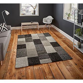 Brooklyn 21830 Rectangle noir gris tapis tapis modernes