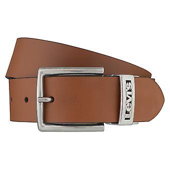 Cinturón de los pantalones vaqueros de Levi BB´s cinturones hombre cinturones cuero beige/negro 6403