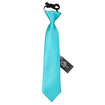 Uovo Blu Plain Satin di Robin elastico cravatta per i ragazzi