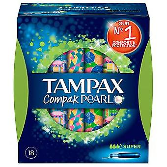 Tampax Compak Pearl Super Buffer 18 Units