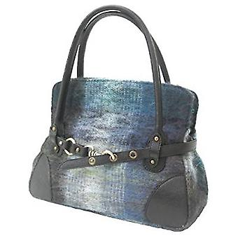 Mohair Handbag R (Navy Blue)
