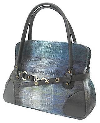 Mohair Handbag R (Navy Blue)