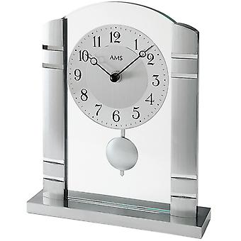 Table clock aluminium with pendulum quartz table clock quartz AMS