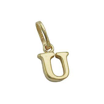 תליון מכתב זהב 375 תליון, אות U, 9 קשר זהב
