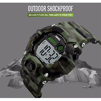 Skmei Large Display Digital Watch Camouflage Loud Alarm Cam 50m Sports Watch UK Seller