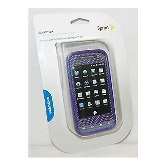 Sprint Gel protetor flexível telefone caso para Samsung Conquer 4G - roxo