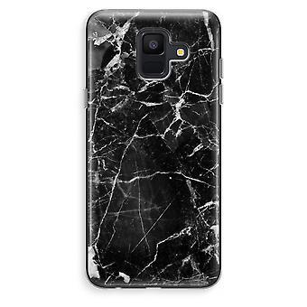 Samsung Galaxy A6 (2018) transparentes Gehäuse (Soft) - schwarzem Marmor 2