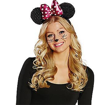 Muis met hoofdband accessoires carnaval Halloween muis