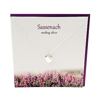 L'Outlander Studio argent inspiré Sassenach pendentif carte