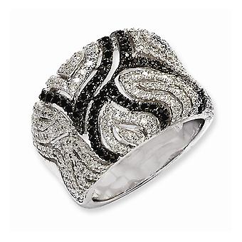 925 Sterling Silver Rhodium plated and CZ Cubic Zirconia Simulated Diamond Brilliant Embers Ring Jewelry Gifts for Women
