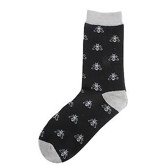 David Van Hagen Bee Socks - Black/Grey