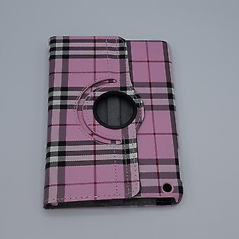 For iPad mini 1/2/3 sak/ermet-rutete-rosa