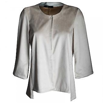 Latte Women's Faux Suede Long Sleeve Jacket