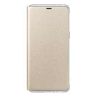 Samsung Flip lommebok dekning for GALAXY A8 (2018)-gull