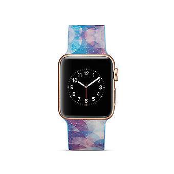 Curea ceas silicon pentru Apple Watch 4 40mm, 3/2/1 38mm-cercuri colorate