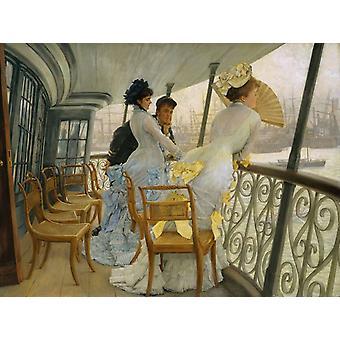 The Gallery of Hms Callcutta,James Tissot,50x40cm