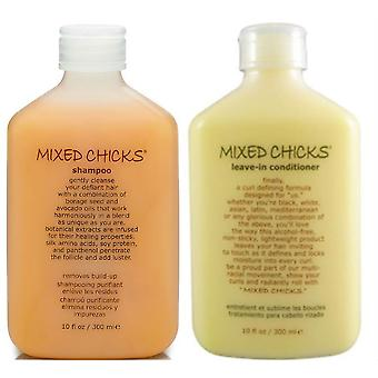 Mixed Chicks Leave-In conditioner 300ml + Shampoo 300ml
