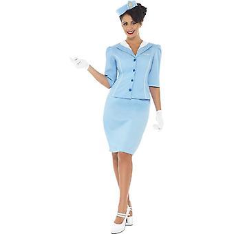 Air Hostess Costume, UK robe 8-10