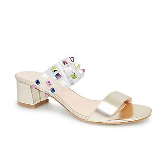Lunar Gilly Perspex Stud Sandal CLEARANCE