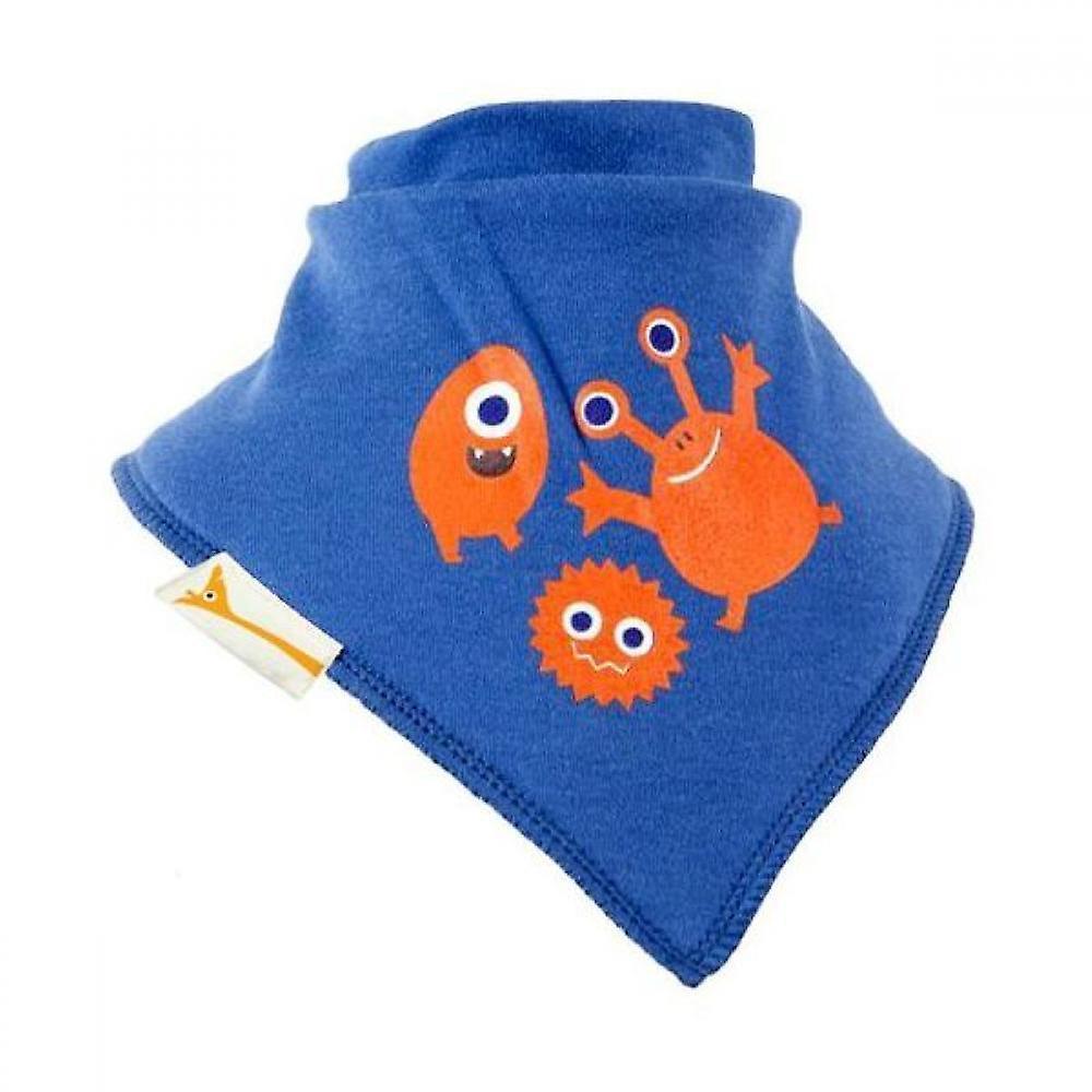 Blue & orange aliens bandana bib