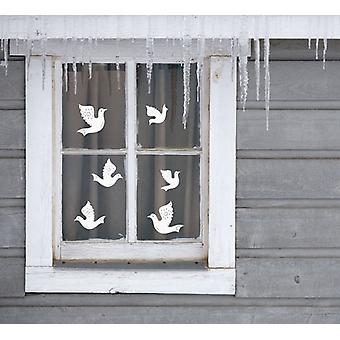 Set of 6 Doves Wall Window Christmas Decoration Decal