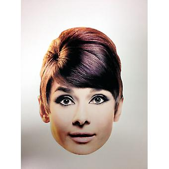 Audrey Hepburn Card Fancy Dress Mask