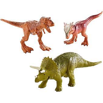 Jurassic World Mini Triceratops, Sygimoloch & Metallic T-Rex