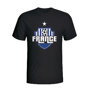 Frankreich Land Logo T-shirt (schwarz) - Kids