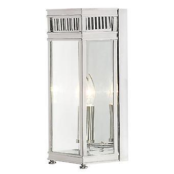 Meio de Holborn lanterna pequena polida cromo - Elstead iluminação