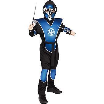 Aven Ninja azul criança Costume