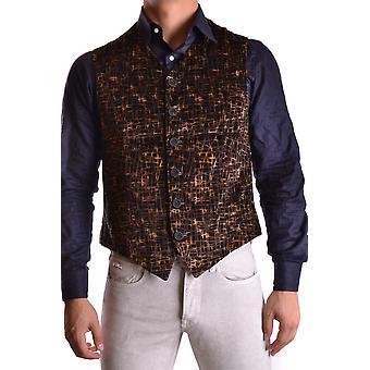 Versace Ezbc070007 Mænd's Black Velvet Vest