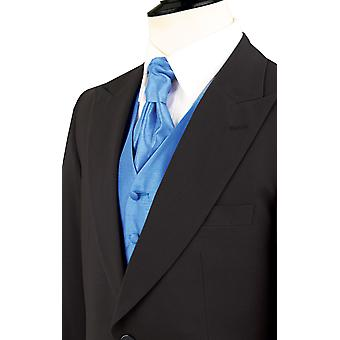 Dobell Mens Black Morning Suit Tailcoat Regular Fit Peak Lapel Classic Wedding Jacket