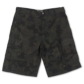 LRG Ripstop Cargo Shorts Black Camo