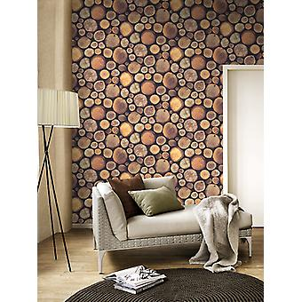 Stacked Chopped Logs Wallpaper Windsor Wallcoverings 263212