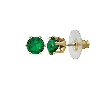Ewige Sammlung Tara Emerald Green Crystal Gold Ton Gestüt Ohrstecker