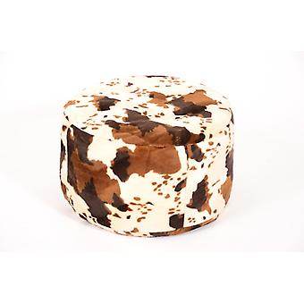 Stool cushion Pouffe cow around animal print 47 x 34 cm