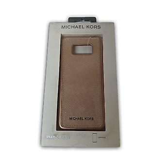 Original Michael Kors Saffiano Leather Snap-on Case for Galaxy S8 - Rose Gold
