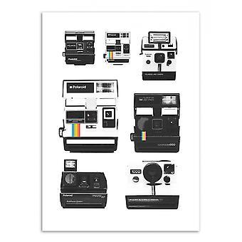 Arte-Pôster - Coleção de câmeras instantâneas - Florent Bodart