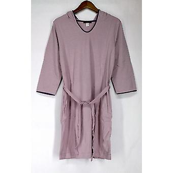 Stan Herman Yarn Dye Terry Striped Hooded Rose Pink Robes A216670