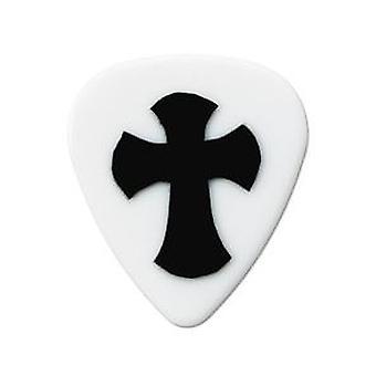 6 Pickboy Grip Lock Guitar Picks/Plectrums - Red Heart Medium 0.75mm