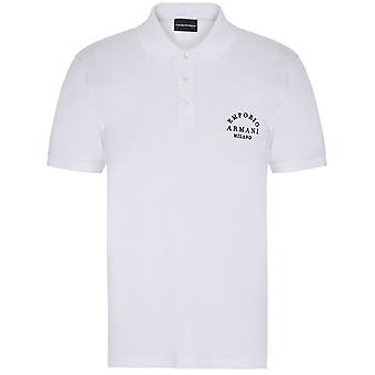 Armani Pique Embroidered Back Polo Shirt