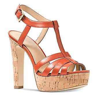 Michael Kors Woman's Catolina Sandal Orange Size 9.5 M