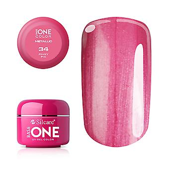 Base one-Metallic-Pinky pie 5g UV Gel