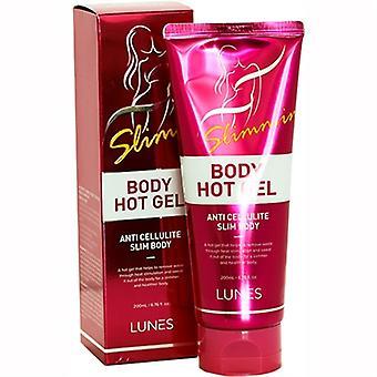 Lunes Body Hot Gel Anti Cellulite 6.76oz / 200ml