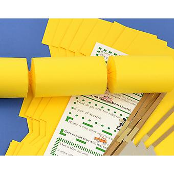 12 Yellow DIY Make and Fill Your Own DIY Christmas Cracker Craft Kit
