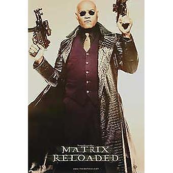 The Matrix Reloaded (Single Sided Advance Reprint Morpheus Full Body) (2003) Reprint Cinema Poster