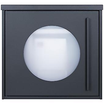 MOCAVI Box 105W Design boîte aux lettres anthracite-gris (RAL 7016) avec fenêtre d'observation