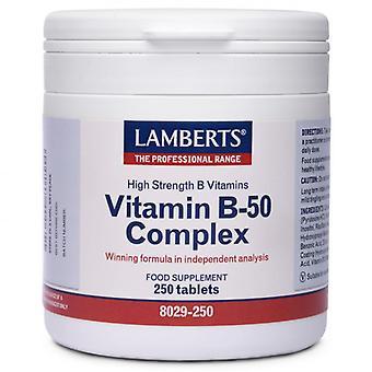 LAMBERTS B-50-vitamiini kompleksi tabletit 250 (8029-250)