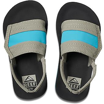 Reef Little Ahi Slide Sliders in Grey/Blue