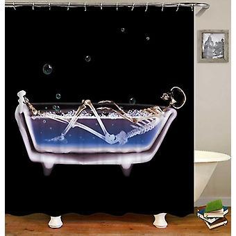 Skelet bad tijd douche gordijn
